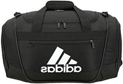 adidas Defender III Duffel Bag, Black/White, Small