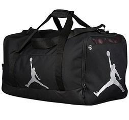 Nike Air Jordan Jumpman Duffel Sports Gym Bag Black Silver 8 bcee952b33ec1