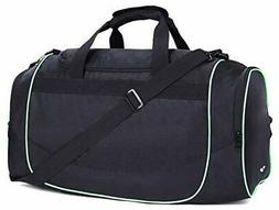 Bag Gym Sports Duffel Bag with Shoe Compartment for Men, Bla