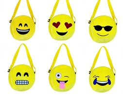 Bag Emoji Plush Tote Handbag Shoulder Duffle Gym Purse Cross