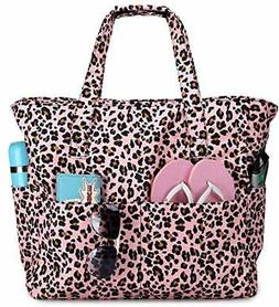Beach Pool Bags Tote for Women Ladies Large Gym Tote Carry O