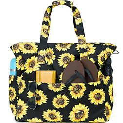 Beach Tote Pool Bags for Women Ladies Large Gym Tote Carry O