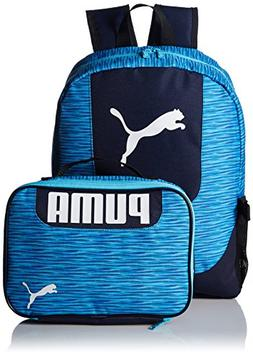 PUMA Big Kid's Lunch Box Backpack Combo, Blue, OS