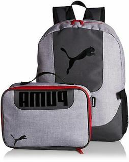 c8be88aaf5 PUMA Big Kids Lunch Box Backpack Combo, Gray/Red, OS