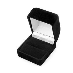 Black Flocked Ring Gift Box Jewelry Display