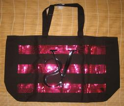 Victoria's Secret Black Friday Sequins Travel Weekender Tote