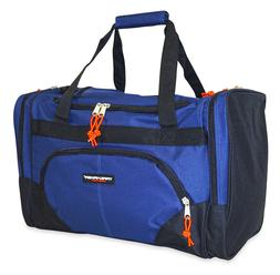 Blue Canvas Duffle Bag Duffel Sports Gym Carryon Carry On Tr