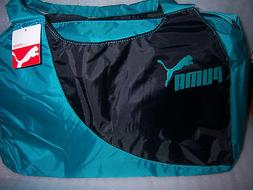 PUMA BLUE TEAL/ BLACK DUFFLE GYM SPORTS YOGA CROSS FIT NYLON