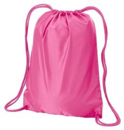 Liberty Bags Boston Drawstring Backpack - HOT PINK, OS