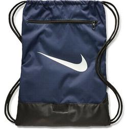 NIKE BRASILIA 9 GYMSACK NAVY BLUE/BLACK DRAWSTRING BAG BACKP
