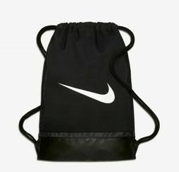 0564083a8ab7c3 NIKE BRASILIA GYMSACK BLACK WHITE DRAWSTRING BAG BACKPACK GY