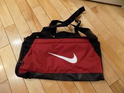Nike Brasilia Small Duffel Gym Bag Red Crush/Black/White BA5