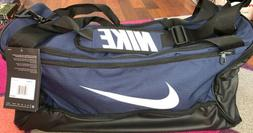 NIKE Brasilia Training Duffel Bag, Midnight Navy/Black/White
