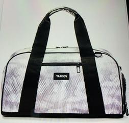 "Vooray Burner 16"" Compact Gym Bag with Shoe Pocket Snow Hex"
