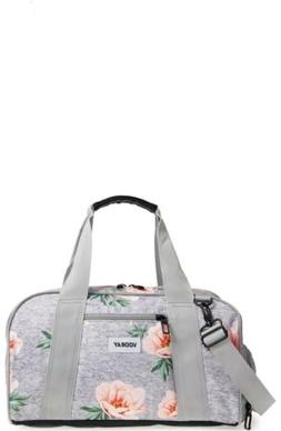 "Vooray Burner 16"" Compact Gym Bag with Shoe Pocket Rose Gray"