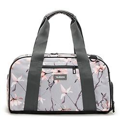 """Vooray Burner 16"""" Compact Gym Bag with Shoe Pocket Gray Cher"""