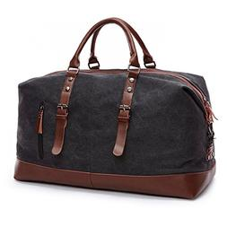 Kenox Canvas Travel Duffel Bag Sport Tote Bag Weekender Over
