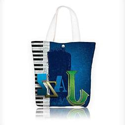 Canvas Shoulder Hand Bag Abstract Cracked Jazz Music Backgro
