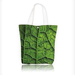 Canvas Shoulder Hand Bag Green Brazilian Rain Tropic TreeHug