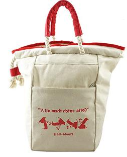 Canvas Tote Bag Backpack Heavy Duty Drawstring Bags 2-in-1 C