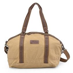 Gootium Canvas Travel Bag Large Weekend Duffle Gym Bag Outdo