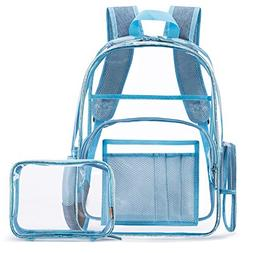 NiceEbag Clear Backpack for Women Fit 15.6 inch Laptop Colle