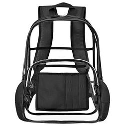 Clear Backpack for Women and Men Fit 15.6 inch Laptop See Th