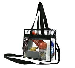Stadium Clear Bags w Front Pocket and Shoulder Carry Handles