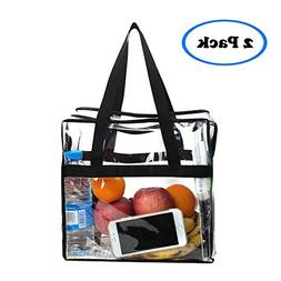 Magicbags 2 Pack Clear Tote Bag,Stadium Approved Security Cl