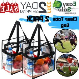 Ess Clear Tote Bag Nfl Stadium Approved 12X12X6 Work School