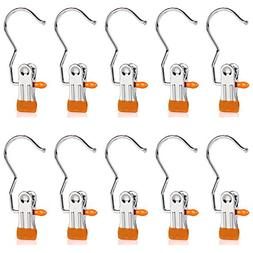 Baihoo Set of 10 Closet Hanger Laundry Hooks Boot Clips Home