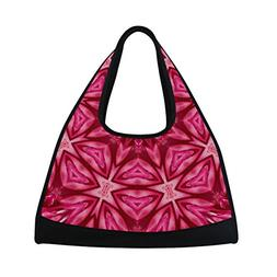 MAPOLO Concentric Flower Macro Travel Duffel Bag Sports Gym