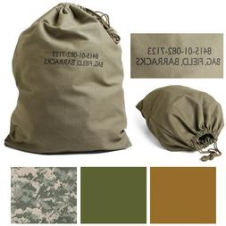 Cotton Canvas Laundry Bag Field Barracks Military Army Tacti