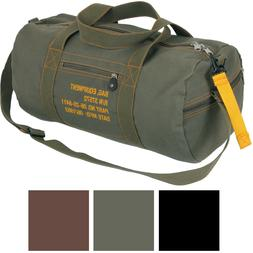 Cotton Canvas Travel Equipment Flight Carry Duffle Shoulder