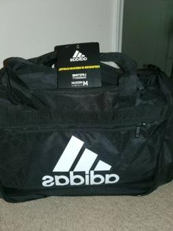 adidas Defender III Duffel Bag-Black/White, Medium
