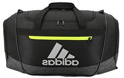 adidas Defender III Duffel Bag, Onix/Green/Magenta, Small