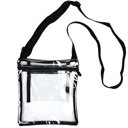 Youngever Deluxe Clear Cross-Body Purse, Stadium Approved Cl
