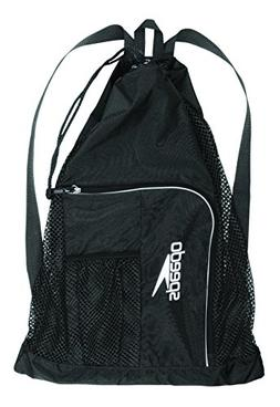 Speedo Deluxe Ventilator Mesh Equipment Bag, Black