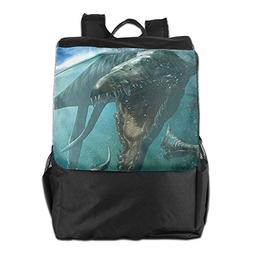 Spanwell Dinosaur In Water Travel Bags Backpacks For Hiking