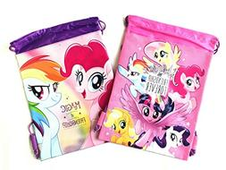 2 pcs Disney My Little Pony Friendship Forever Drawstring Ba
