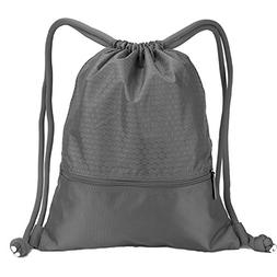 Double Sturdy Drawstring Bag With Pockets Waterproof | For S