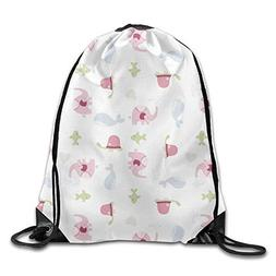 dd418395ad Unicorn Drawstring Backpack Travel Gym Bags Printing Rucksack
