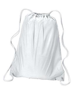 Liberty Bags Large Drawstring Backpack OS White
