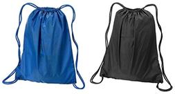 drawstring backpack set black royal