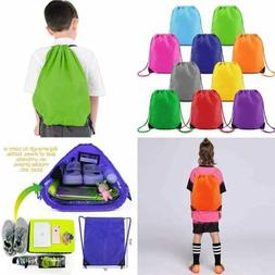 Drawstring Backpack String Gym Bag 10 Pack Custom Multipurpo