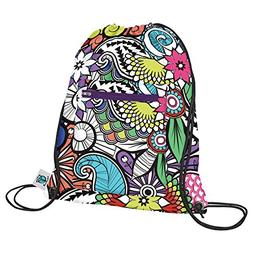 Planet Wise Drawstring Sports Bag 2.0, Oasis, Made in the US