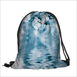 Travel Drawstring Closure Bag Butter Over the Pond with Viol