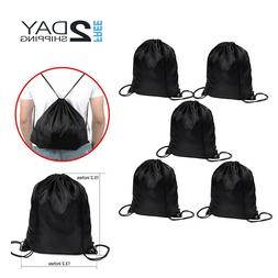 Shappy 5 Pieces Drawstring Tote Sack Bag Cinch Gym Bags Stor