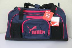 Puma Duffel Bag Accelerator 20 inch Navy Blue/red Duffle Gym