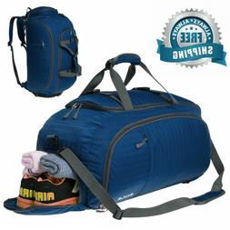 3-Way Travel Duffel Bag Backpack Travel Luggage Gym Sports B